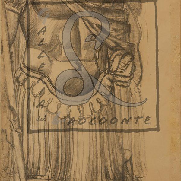 Achille Funi - Leggionari romani, 1931 ca Tecnica mista su carta apllicata su cartone Cm 125,5x81