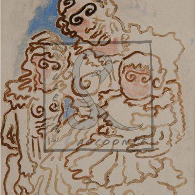Alberto Savinio - Ricordo di una famiglia, 1946-47 Acquarello e tempera su carta Cm 23,5x16,5