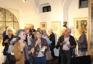 Marisa Mori, Inaugurazione della mostra Disegni e Dipinti