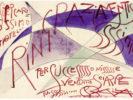 GIACOMO BALLA (Turin 1871 - Rome 1958) Letter to the Count Filippo Lovatelli, 1926 Watercolor and tempera on paper, 9,7x14 cm (envelope), 19.4 x 28 cm (letter)