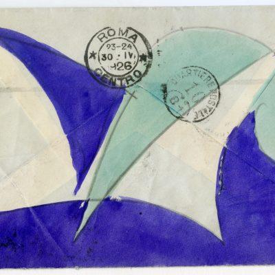 88c_Giacomo Balla_Lettera al conte Filippo Lovatelli_1926_matita e tempera su carta_busta 9.7x14-lettera 19.4x28