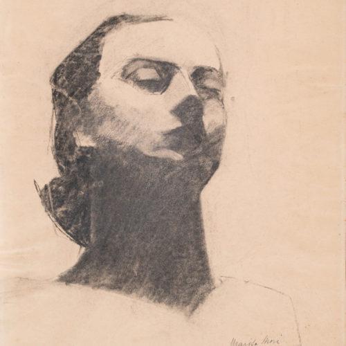 MARISA MORI (Florence 1900 - 1985) Self-portrait, 1928 Charcoal pencil on paper, 48 x 33 cm