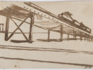 MARIO SIRONI (Sassari 1885 - Milan 1961) Railway viaduct, 1920 Ink on paper, 14 x 21,5 cm